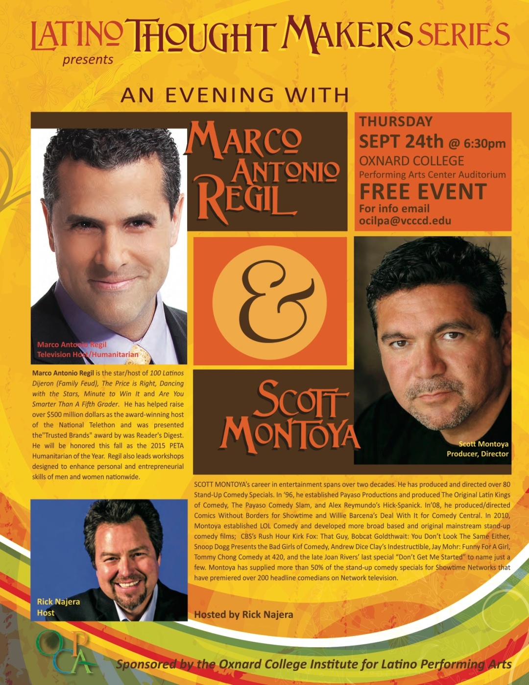 Latino Thought Makers, Rick Najera, Marco Antonio Regil, Scott Montoya