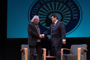 Edward James Olmos and Rick Najera, Latino Thought Makers (photo by Gracie Slegers)