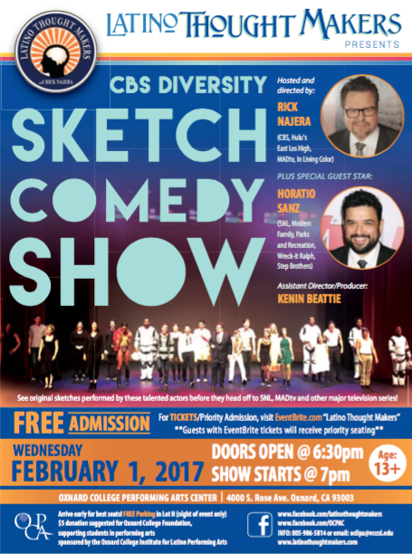 Rick Najera's Latino Thought Makers: Sketch Comedy Showcase, plus special guest SNL's Horatio Sanz