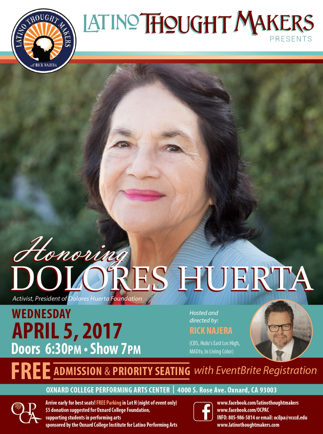 Latino Thought Makers Rick Najera and Dolores Huerta