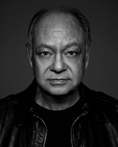 Cheech Marin joins host Rick Najera for a special presentation of Latino Thoughts Makers at 2019 AHSIE Conference 4/16/19; photo by Allen Amato